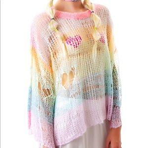 Wildfox Ski Bunny mermaid unicorn Sweater